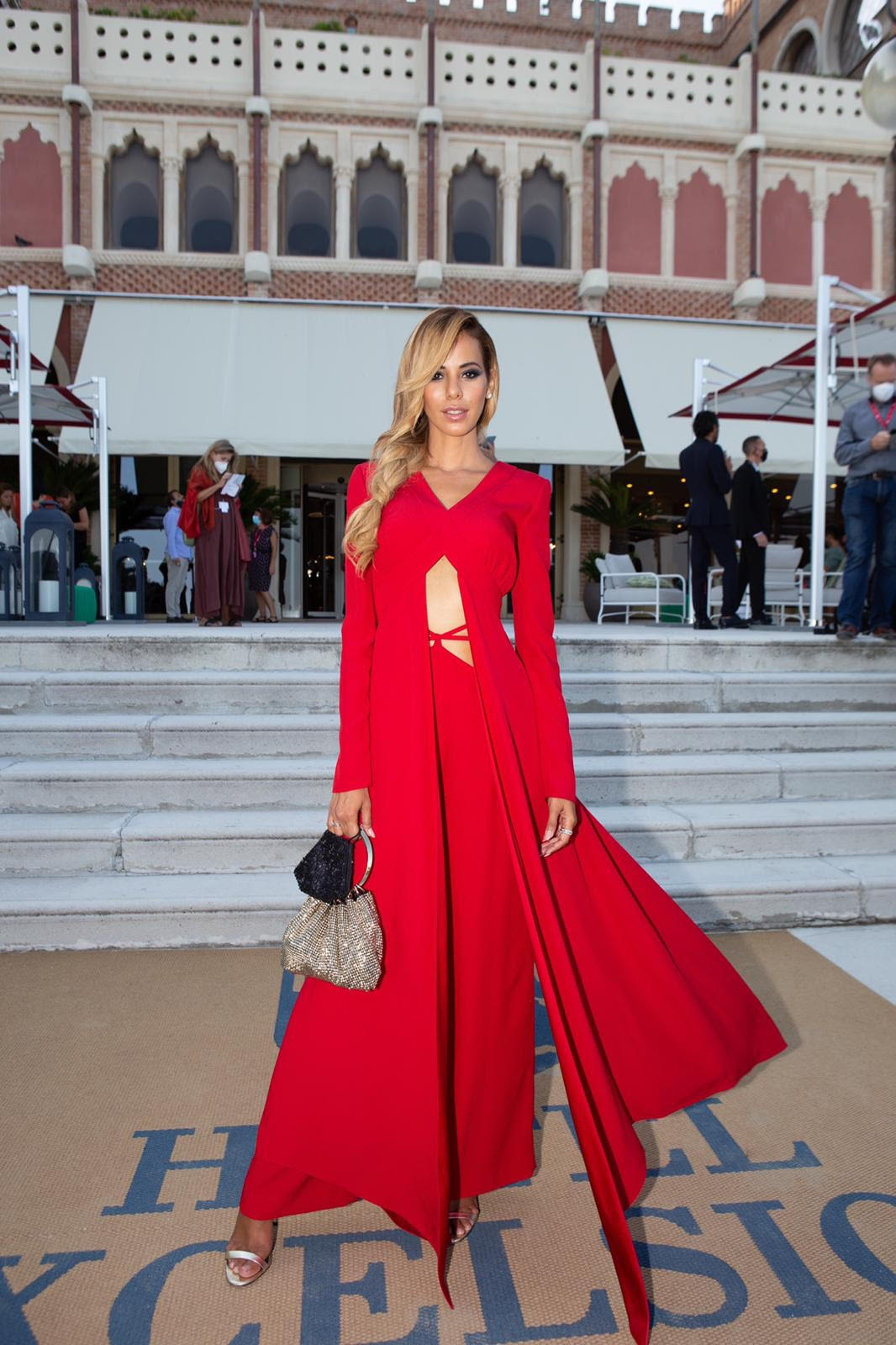 CHRISTINA CRAWFORD SIGNATURE PASSION RED AT THE 77TH EDITION VENICE FILM FESTIVAL